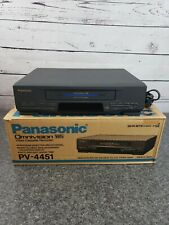 New listing Panasonic Pv-4451 Omnivision Vcr Vhs Original Box Plays Fuzzy For Parts/ Repair