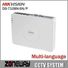 Hikvision DS-7108N-SN/P Plug & Play 8CH Economic PoE NVR for HD IP Camera 8 PoE