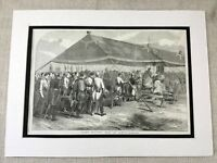 Military Mass Olomouc Olmutz Czechoslovakia Victorian Antique Print 1853