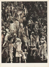 LEA GRUNDIG 1.200.000 CHILDREN WERE GASSED EAST GERMAN SMALL ww2 ART PRINT 1975