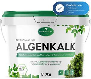 (6,55€/kg) WEIDENFELDER 3kg Algenkalk - 100% Natur, Buchsbaum Buchsbaumzünsler
