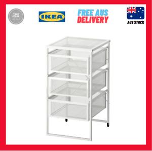 IKEA LENNART Drawer Unit Desk File Office Organiser Castors 3 Drawers White