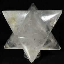 "2.5"" Clear Quartz 8 Point Merkaba Star Natural Sparkling Crystal Stone - India"