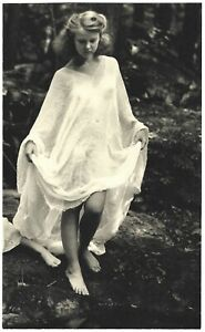 Fine Art Deco Camera Club 1930s Photograph Woodland Maiden in Nature H.R. Cremer