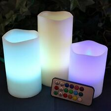 Candles-18 3pcs/set Changing Control Color Remote Flameless US Electric Key Led