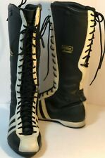 Rare Adidas Santos Boxing Boots Black Size 5 Us Women's - Knee High hi Lace up