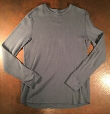 Gap Mens Long Sleeve Gray Henley Shirt - Size XL