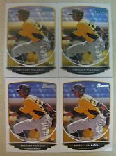 (4) GREGORY POLANCO ROOKIE CARD LOT 2013 BOWMAN CHROME/BOWMAN PAPER #TP-38