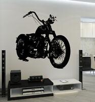 Wall Vinyl Decal Bike Biker Speed Racing Amazing Man Garage Cool Decor z3738
