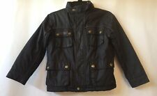 Zara Boys Faux Leather Vintage Style Brown Jacket Size 5-6 Years