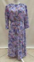 St Michael M&S floral vint/retro fit & flare dress Label 16 bust 38 suit Size 14