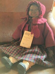 Primitive Arnett's Country Store Black Americana Joy Folk Art Doll LE AA