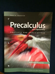Precalculus with Concepts and App. Trigonometry Assessment Resources Foerster