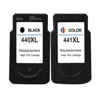 2x PG 440 CL441 Printer Ink Cartridges For Canon Pixma MX374 MX394 MX434 MX454
