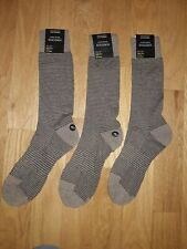 Nordstrom Men's Shop Cushion Foot Arch Support Socks Brown One Size-3 pack!