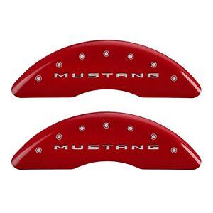 MGP Caliper Covers 10200S2MGRD MGP Disc Brake Caliper Cover Fits 15 Mustang