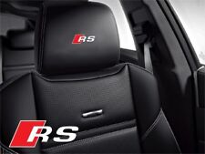 5x Audi Rs Sticker for leather seats and other flat and smooth surfaces