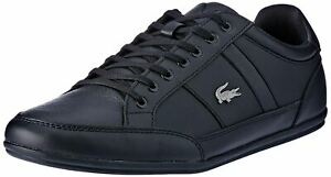 Lacoste Chaymon BL 1 Black Black Leather Mens Trainers