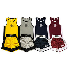 Kids Boxing Shorts & Top Set 2 Pieces High Qualität Satin Fabric 3 TO 14 Years