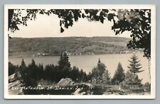 Lac Matambin ST. DAMIEN Quebec RPPC Rare Vintage Photo CPA Postcard Charpentier