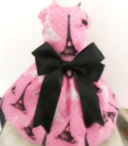 DOG DRESS/HARNESS   PARIS IVORY TOWER    NEW FREE SHIPPING