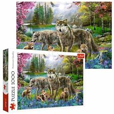 Trefl 1000 Piece Adult Large Family Of Lupine Wolves Play Fun Jigsaw Puzzle NEW