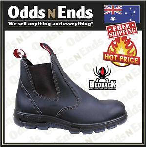 Redback UBOK Non Safety Work Boots. Elastic Sided Bobcat Leather Australian