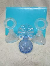 Vintage Czechoslovakia Perfume Bottle SET of 2 w/ Dauber & ONE BLUE / Nice Lot