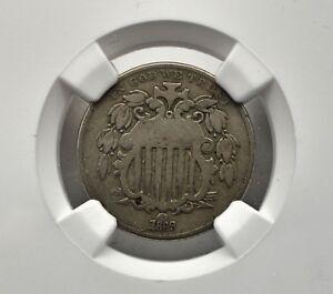 1869 5¢ Rev. of 67 Shield Nickel FS-301 Narrow/Tall Date NGC VG8