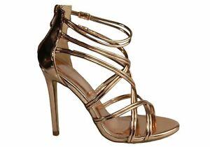 Lavish Claudia Womens Stunning High Heel Stiletto Strappy Sandals