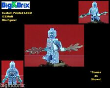 ICEMAN Marvel Custom Printed LEGO Minifigure with ICE Rays NO DECALS