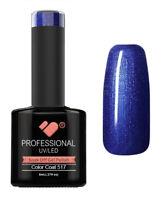 517 VB Line Water Blue Metallic - UV/LED nail gel polish - super quality