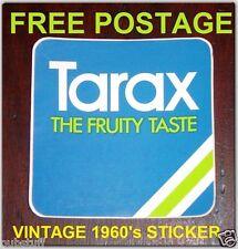 "TARAX SOFT DRINK ""THE FRUITY TASTE"" VINTAGE STICKER ORIGINAL DECAL ~ FREE POST"