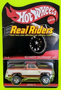 Hot Wheels Real Riders Series 13 '83 Chevy Silverado 4x4