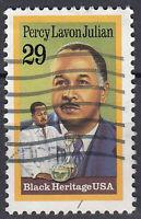 USA Briefmarke gestempelt 29c Percy Lavon Julian Black Heritage / 306