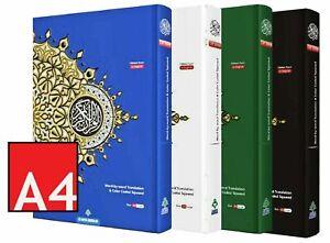 NEW Quran Large A4 Word For Word Arab English Translation Colour Tajweed Maqdis