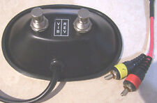 Black Fender Style Dual Button Footswitch with RCA plugs