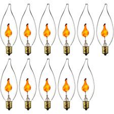 (11) Sunlite 3CFC 3W Halloween Incandescent Chandelier Flickering Flame Light Bu