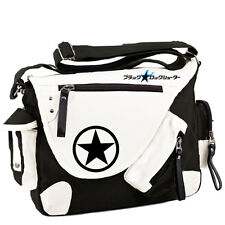Anime Black Rock Shooter Backpack Schoolbag Messenger Bag Unisex Canvas Gift