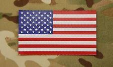 SOLAS Reflective US Flag Full Color USCG Navy Army SeaBee Maritime VELCRO® Brand