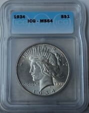 "1934 Peace Dollar ""ICG MS64"" *Free S/H After 1st Item*"