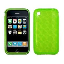 Flexible TPU Gel Case for iPhone 3G / 3GS - Circle Green