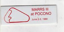 SCCA Dash Plaque MARRS III 1990 at POCONO