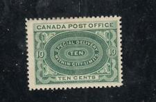 CANADA YY17 # E1b FVF-MVLH 10cts 1898  SPECIAL DELIVERY /YELLOW GREEN  CV $200
