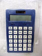 Blue Desk Top Calculator Plastic Wallet 12 Digit Display Office School College