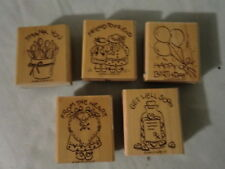 Stampin Up 1996 NICE & EASY NOTES  5 Stamps