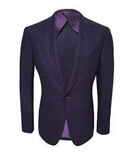 Pal Zileri Men's Violet 100% Wool Jacket Regular Fit, size 58(3XL)