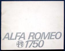 Prospekt brochure Alfa Romeo 1750 (USA, 1970)