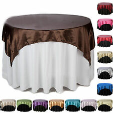 Various Sizes Of Square Satin Fabric Tablecloth Cover Overlay Wedding Party
