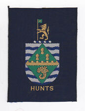 SCOUTS OF BRITISH / UNITED KINGDOM - UK SCOUT HUNTS COUNTY BADGE (L) EXT+++ RARE